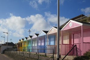 Beach huts on the way to Martello