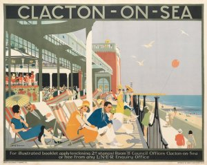 Poster advertising visiting Clacton c.1920-40s